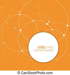 Abstract background with overlapping