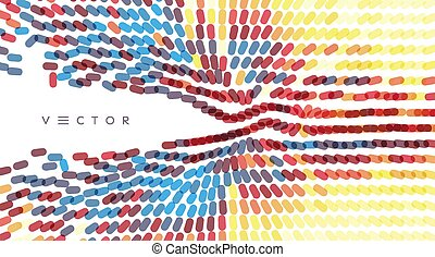 Abstract background with overlapping ovals. Vector ...