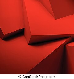 Abstract background with overlapping red cubes