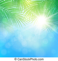 abstract background with palm branches