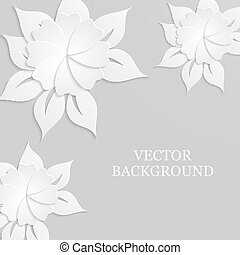 Abstract background with paper flowers.