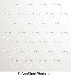 Abstract background with paper hearts
