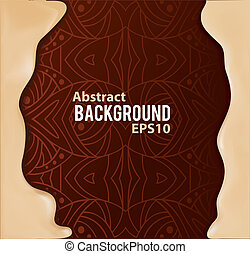 Abstract background with pattern and liquid frame