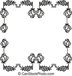 Abstract background with pattern graphic floral frames. Vector