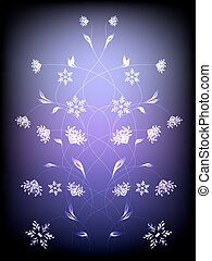 Abstract background with pattern of flowers. EPS10 vector illustration