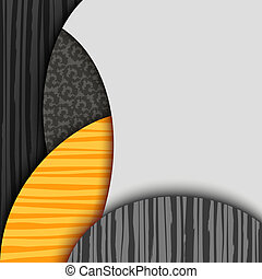 Abstract background with patterned layers. EPS10