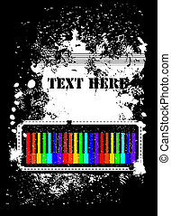 Abstract background with piano