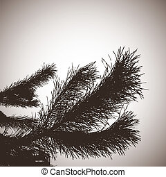 Abstract background with pine.