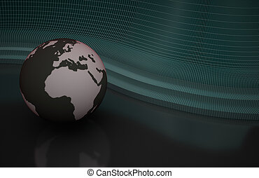 Abstract background with planet