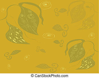 Abstract background with plants