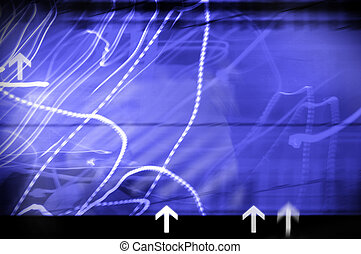 abstract background with pointers