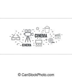 Abstract background with popcorn.