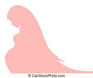 Abstract background with pregnant woman silhouette for your design