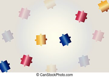 abstract background with puzzle pieces vector