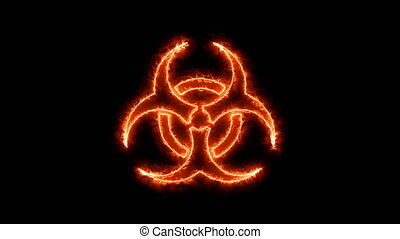Abstract background with radioactive sign