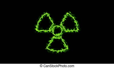 Abstract background with radioactive sign. 3d rendering