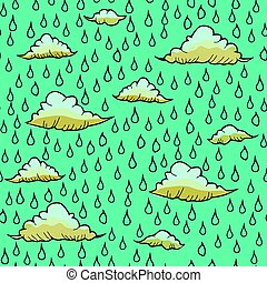 Abstract background with rain and cloud