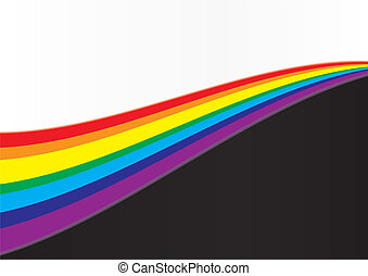 Abstract background with rainbow