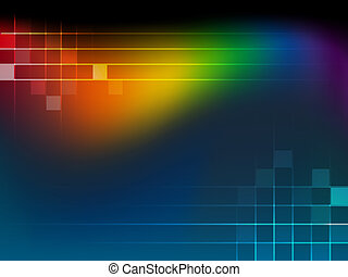 Abstract Background with rainbow wa