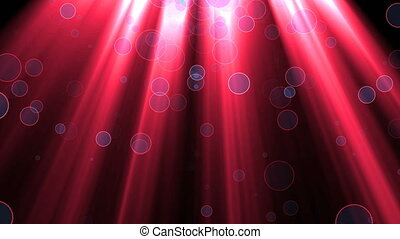 Abstract background with rays and particles