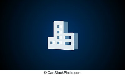 Abstract background with Real estate icon