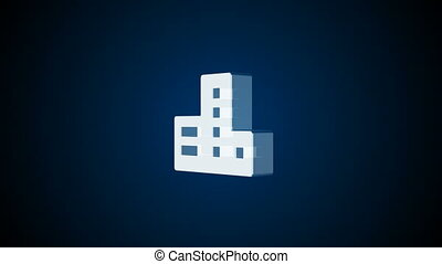 Abstract background with Real estate icon. 3d rendering