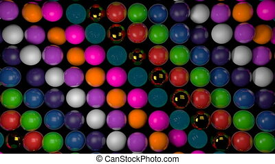 Abstract background with realistic 3d spheres. Colorful backdrop