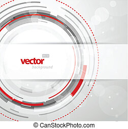 Abstract background with red and grey circles.