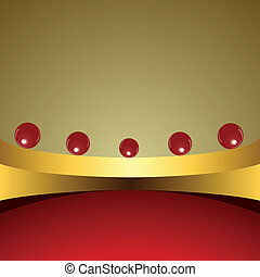 Abstract background with red balls