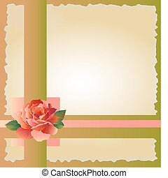 abstract background with  red rose