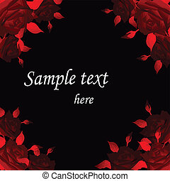Abstract background with red roses