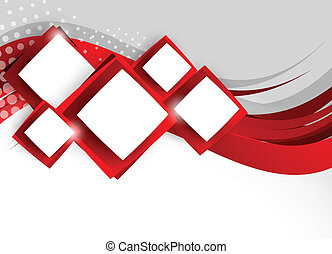 Abstract background with red squares