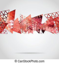 Abstract background with red triangles