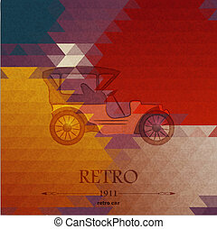 Abstract background with retro automobile