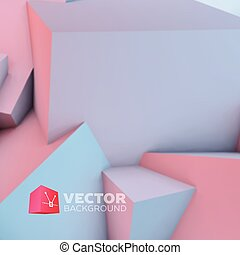 Abstract background with rose quartz and serenity cubes