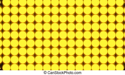 Abstract background with rows of many yellow turning coins, 3d render backdrop, computer generating