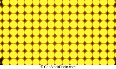 Abstract background with rows of many yellow turning coins,...