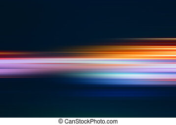 Abstract background with rushing blurred motion lights or...