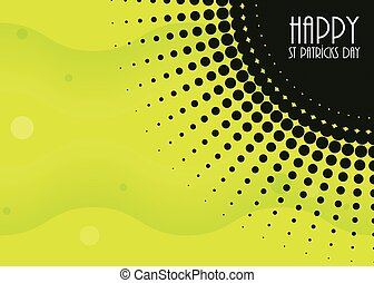 abstract background with Saint Patrick's Day design