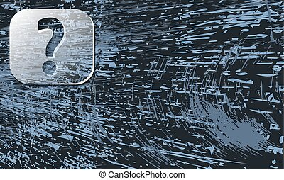 abstract background with scratches and transparent question mark