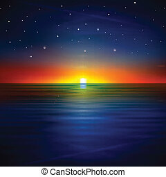 abstract background with sea sunrise