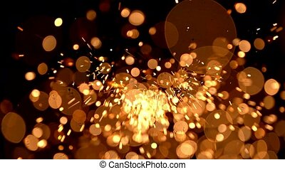 Abstract background with shining bokeh sparkles.
