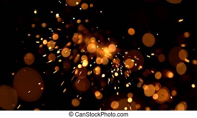 Abstract background with shining bokeh sparkles. Abstract...