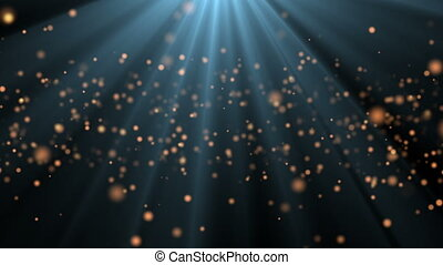Abstract background with shining animation bokeh sparkles.