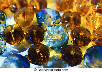 Abstract background with shiny glass beads