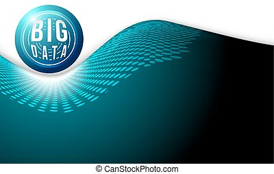 Abstract background with silver big data icon