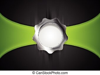 Abstract background with silver gear shape