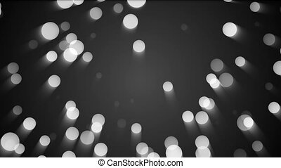 Abstract background with silver particles. Seamless loop