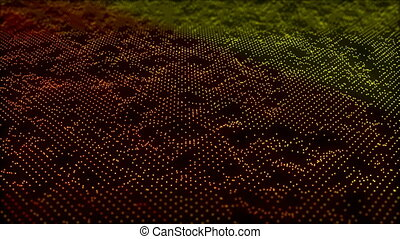 Abstract background with small gold particles. 3d rendering
