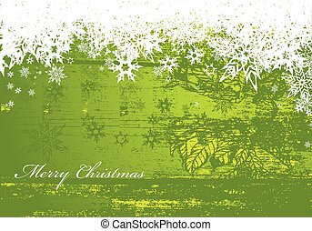 Abstract background with snowflakes.